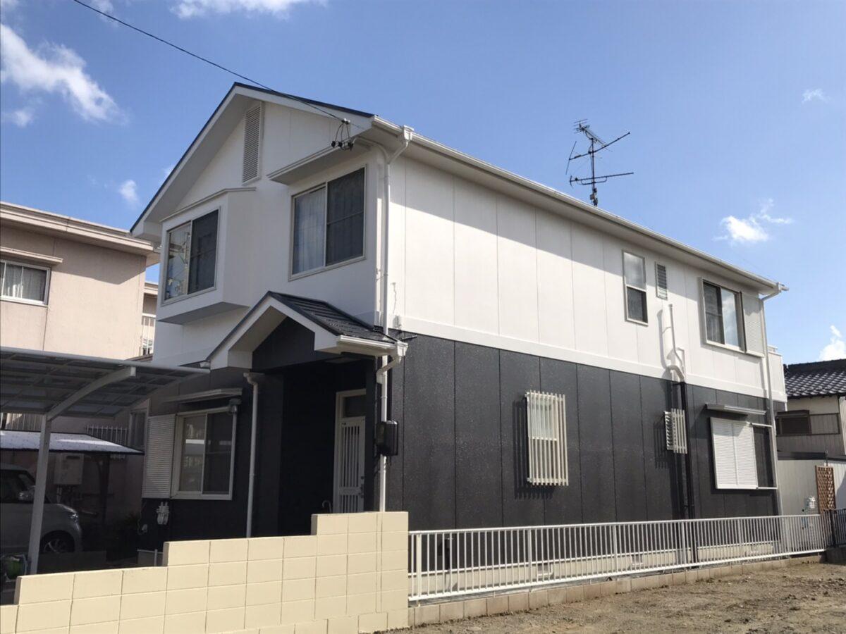 可児市で屋根と外壁の塗り替え塗装、塀の塗り替え塗装をおこないました