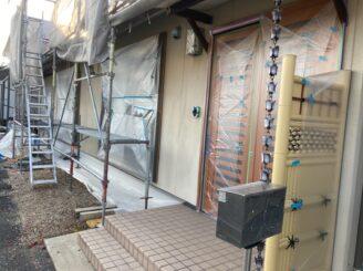 犬山市で屋根外壁塗装 養生完成