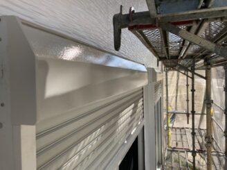 多治見市で外壁塗装 シャッターBOX塗り替え