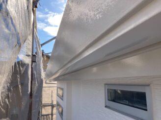 多治見市で外壁塗装 軒樋塗り替え