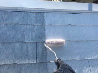 多治見市で屋根外壁塗装 屋根の塗り替え 下塗り塗装2回目