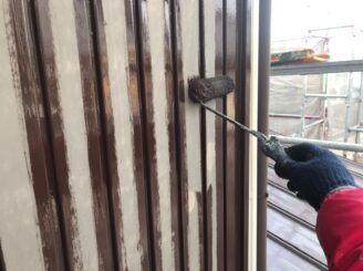 春日井市で付帯部塗装 雨戸の塗り替え