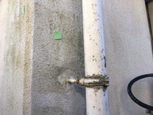 瑞浪市、外壁にカビが発生している