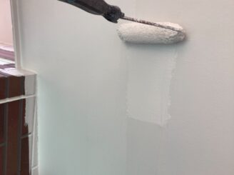 春日井市で屋根外壁塗り替え塗装 外壁下塗り塗装