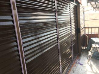 多治見市で外壁塗装 付帯部塗装 雨戸塗り替え