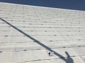 多治見市で屋根外壁塗装 屋根の塗り替え タスペーサーを取り付け完成