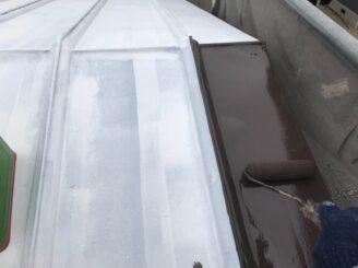 春日井市で屋根塗り替え塗装 屋根塗装下塗り