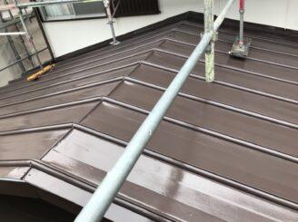 春日井市で屋根塗り替え塗装 屋根塗装完成