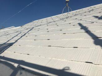 可児市で屋根外壁の塗り替え 屋根タスペーサー取付