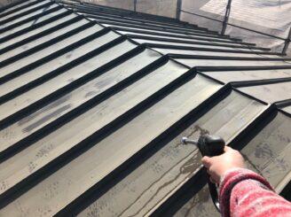 春日井市で屋根塗り替え塗装 高圧水洗浄