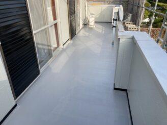 春日井市で屋根外壁塗り替え塗装 ベランダ防水