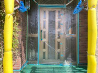 春日井市で屋根外壁塗り替え塗装 目地打ち替え 養生完成