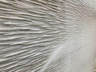 多治見市で外壁塗装 ベランダ防水工事 外壁のバイオ洗浄