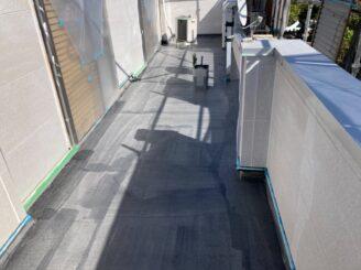 春日井市で屋根外壁塗り替え塗装 ベランダ防水工事