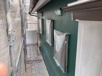 犬山市で屋根外壁塗装 外壁上塗り塗装