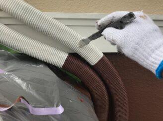 可児市で屋根外壁の塗り替え 配管の塗り替え
