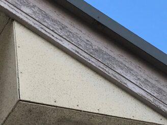 多治見市で屋根外壁塗装 現調時の破風板の状態
