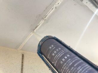 可児市で屋根外壁塗装 養生完成