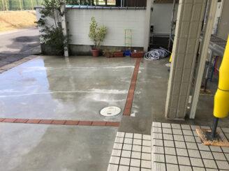 春日井市で外壁塗装 駐車場高圧洗浄