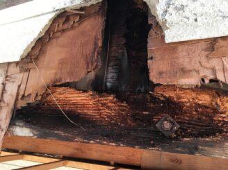 多治見市で屋根外壁塗り替え塗装 ベランダ外壁傷み部分