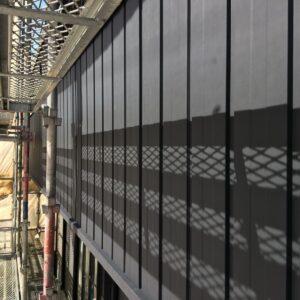 多治見市瑞浪市 外壁の張り替えに板金(ガルバリウム鋼板)工事