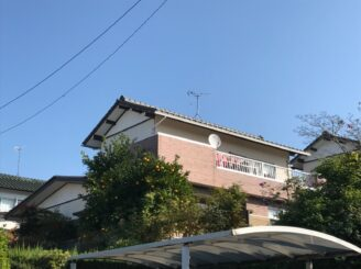 春日井で屋根外壁塗装 塗り替え工事 塗り替え前写真
