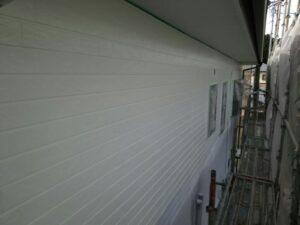 中津川市、外壁の中塗り塗装完了