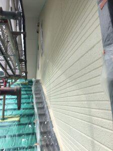 瑞浪市釜戸町で、高耐久で省エネの最高級断熱塗料ガイナで上塗り塗装です