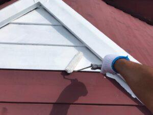恵那市大井町で、スレート瓦屋根の下塗り塗装を行いました