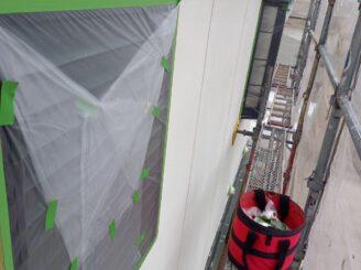 瑞浪市で外壁塗装 養生完成