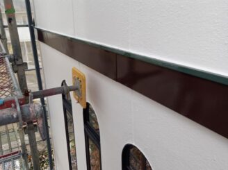瑞浪市で外壁塗装 幕板の塗装