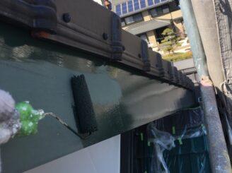 瑞浪市で外壁塗装 破風板の塗装