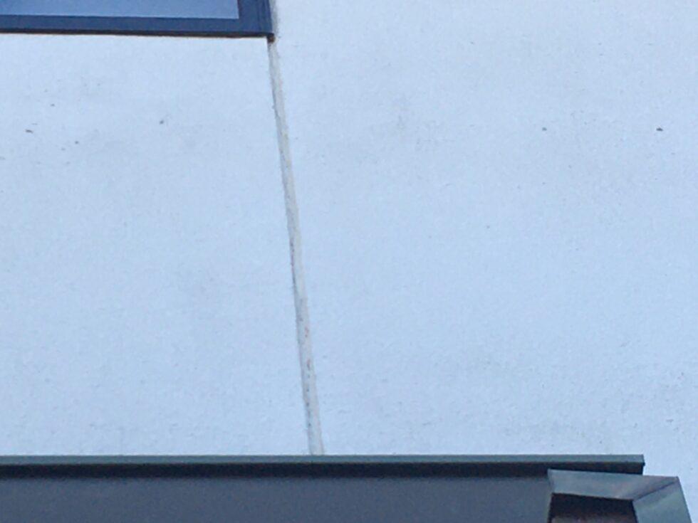 瑞浪市で外壁と玄関扉塗装 塗装前写真