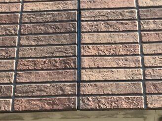 春日井市で外壁塗装とベランダ防水工事 外壁の膨らみ