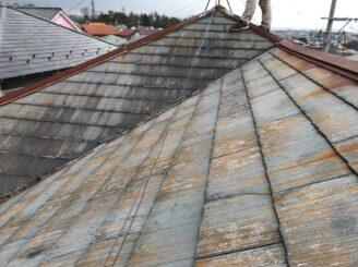 多治見市で屋根カバー工法 外壁塗り替え塗装工事前