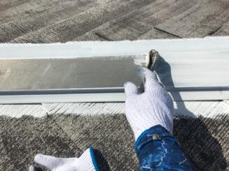多治見市で屋根外壁塗装 屋根棟板金塗装