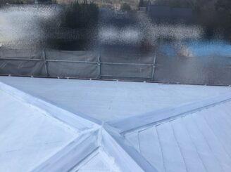 多治見市で屋根外壁塗り替え塗装 屋根下塗り