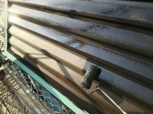中津川市坂下で、付帯部の雨戸の塗装を弱溶剤家塗料で塗装しました。
