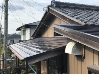 多治見市でトタン屋根の塗装 施工後写真