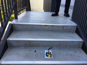 中津川市付知町で階段の防水の見積もり依頼を頂きました。