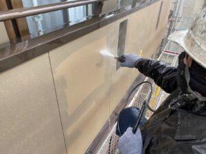 恵那市岩村町、外壁のバイオ洗浄