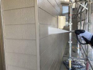 恵那市岩村町、外壁の高圧水洗浄