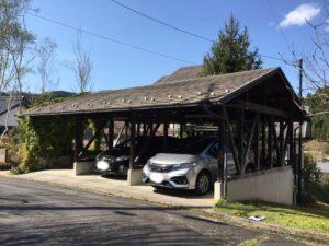 恵那市上矢作町で18年経過しているスレート屋根の塗り替えの下見に行きました。