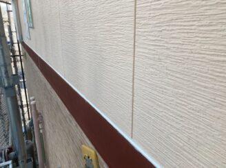 瑞浪で外壁の塗り替え塗装 幕板コーキング シリコン塗装