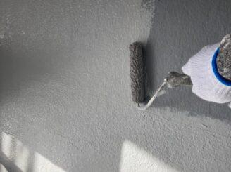 瑞浪で外壁の塗り替え工事 ベランダ防水工事 リボール式