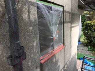 土岐市で外壁塗装塗り替え 養生完成