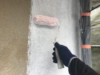 土岐市で外壁塗装塗り替え 外壁下塗り