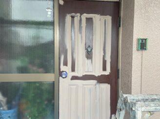 可児市 屋根カバー工法  ガルバ 外壁塗装 防カビ材 塗り替え コケ 菌 除去 発生おさえる 玄関ドア塗り替え