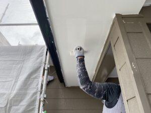 岩村町、軒天の塗装完了