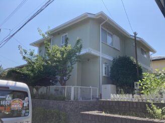 多治見市で屋根外壁塗り替え塗装工事完成 屋根外壁シリコン塗装